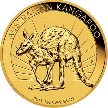 1 oz 2011 Australian Kangaroo Gold Bullion Coin