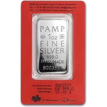1oz PAMP Suisse True Happiness Minted Silver Bullion Bar