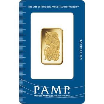 1/2 oz PAMP Suisse Gold Bullion Minted Bar