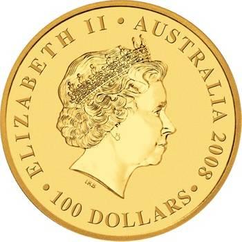 1oz 2008 Kangaroo Gold Bullion Coin