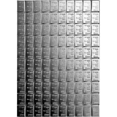 100 x 1gram Valcambi CombiBar Silver Bullion Bar (100gram)