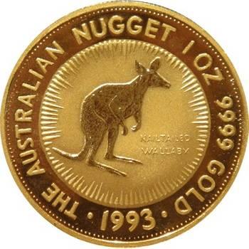 1 oz 1993 Australian Kangaroo Gold Bullion Coin