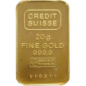 20 g Credit Suisse Minted Gold Bullion Bar
