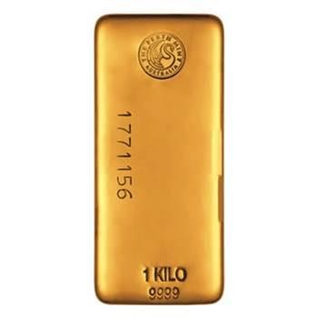 1kg Perth Mint Cast Gold Bullion Bar
