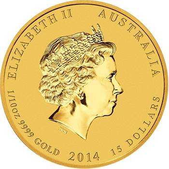 1/10oz 2014 Year of the Horse Gold Bullion Coin - Series II (Brand New Coins)