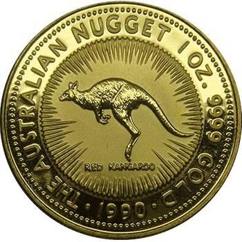 1 oz 1990 Australian Kangaroo Gold Bullion Coin