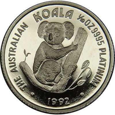 1/10oz 1992 Australia Koala Platinum Bullion Coin (Ex Set)