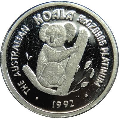 1/20oz 1992 Australia Koala Platinum Bullion Coin (Ex Set)