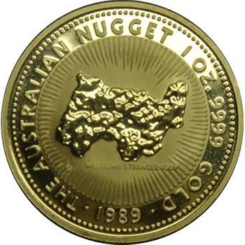 1 oz 1989 Australian Nugget Gold Bullion Coin