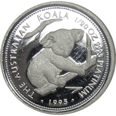 1/20oz 1995 Australia Koala Platinum Bullion Coin (Ex Set)