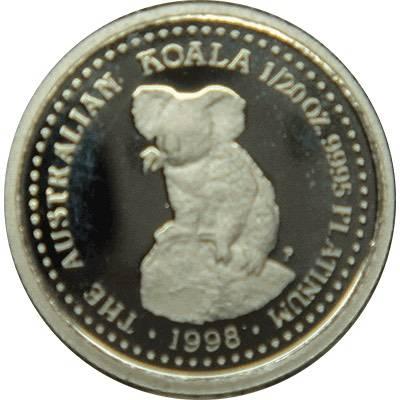 1/20 oz 1998 Australian Koala Platinum Bullion Coin