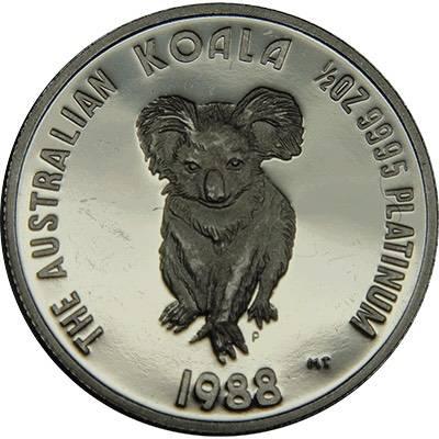 1/2 oz 1988 Australian Koala Platinum Bullion Coin