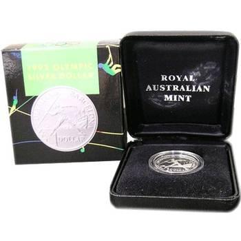 1992 Silver Australia Barcelona Olympic Games One Dollar Coin