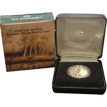 1995 Silver Australia Waltzing Matilda One Dollar Coin