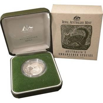 1995 Australia's Endangered Species Series Numbat (Standard Proof) Ten Dollars Silver Proof Coin