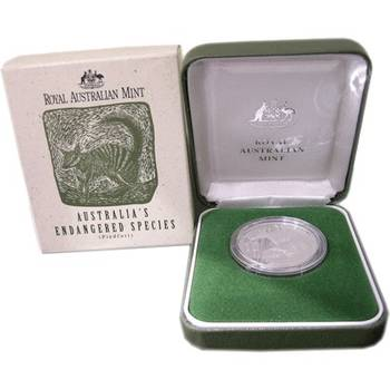 1995 Silver Australia Endangered Species Numbat Ten Dollars Coin Piedfort Proof