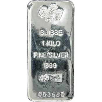 1 kg Pamp Suisse Cast Silver Bullion Bar- Buybacks