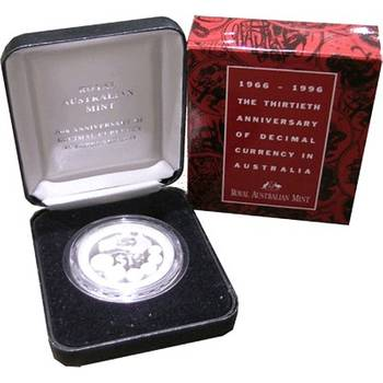 1 oz 1996 Australia 30th Anniversary Of Decimal Currency Silver Coin