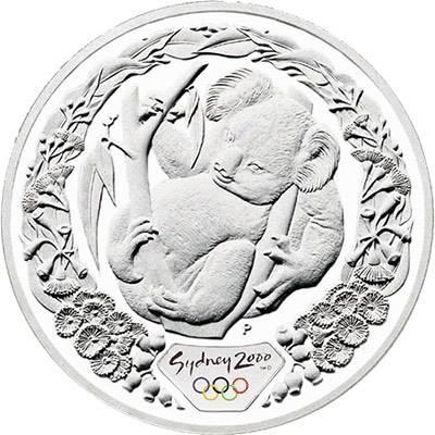 1 oz 2000 Sydney Olympics Koala and Flowering Gum Silver Coin (Ex Set)