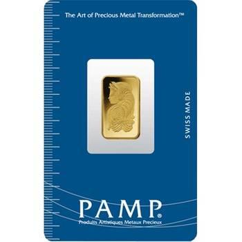 2.5gram PAMP Suisse Minted Gold Bullion Bar (Brand New Bars)