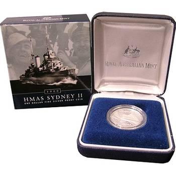 2000 Silver Australia HMAS Sydney II One Dollar Coin