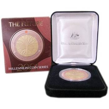 2001 Silver Australia Millennium Series The Future Ten Dollars Coin Proof