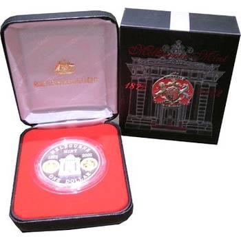 1 oz 2002 Australia Melbourne Mint 130th Anniversary One Dollar Silver Coin