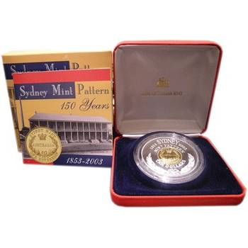 2003 Bi-Metal Australia 150th Anniversary Of The Sydney Mint Pattern Ten Dollar Coin
