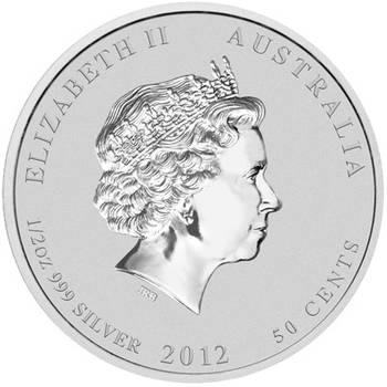 1/2oz 2012 Year of the Dragon Silver Bullion Coin - Series II