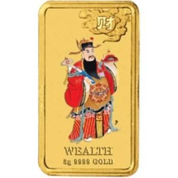 10gram Wealth - 2009 Mythological Chinese Character Series - Rectangular Gold Bullion Coin