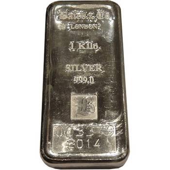 1 kg Baird & Co Silver Bullion Cast Bar- In Stock Now