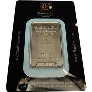 1oz Baird & Co Minted Rhodium Bullion Bar (Brand New Bars)