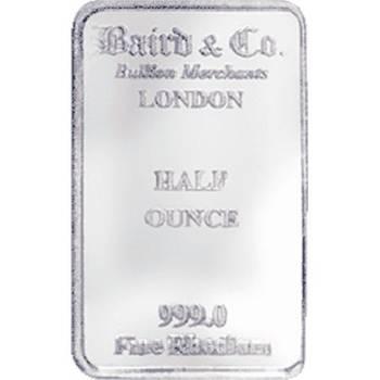 1/2oz Baird & Co Minted Rhodium Bullion Bar (Brand New Bars)