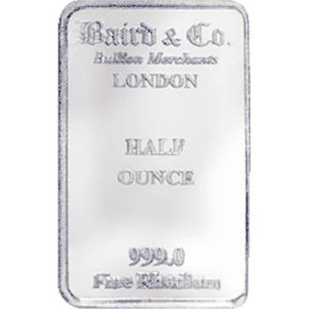 1/2 oz Baird & Co Minted Rhodium Bullion Bar
