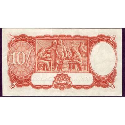 1952 Australia R. 15 Ten Shillings King George VI Coombs/ Wilson Australian Predecimal Banknote