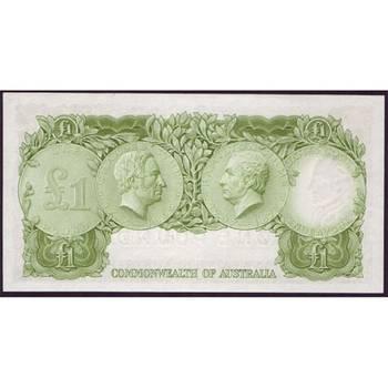1961 Australia R. 34bs One Pound Star Note Queen Elizabeth II Coombs/Wilson Australian Predecimal Banknote