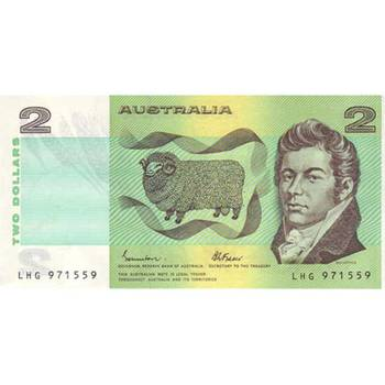 1985 Australia R. 89 Two Dollars Johnston/Fraser 1/2 Mint Bundle Consecutive Run of 50 Australian Decimal Banknote