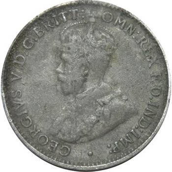 1912 Australia King George V Threepence Silver Coin
