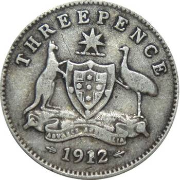1912 Australia King George V Threepence nearly Very Good