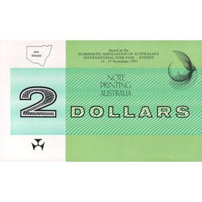 1991 Australia Two Dollars Johnston/Fraser Last Prefix