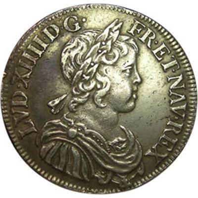 1645 France - Louis XIV - 1/2 Ecu about Extra Fine