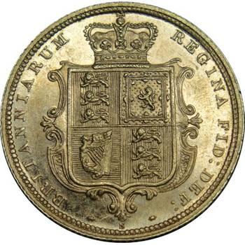1887 Australia Sydney Queen Victoria Young Head Shield Reverse Gold Half Sovereign Uncirculated