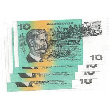 Australia Ten Dollars Australian Decimal Banknote