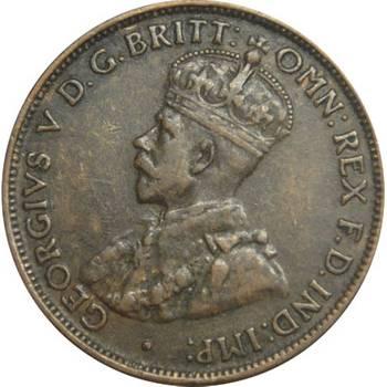 1930 Australia King George V Half Penny about Very Fine