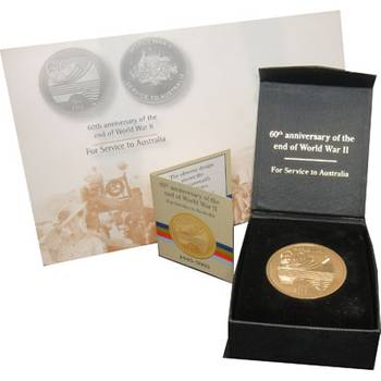 1945-2005 Australian 60th Anniversary of the end of World War II Medallion
