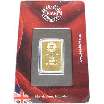 10gram British Royal Mint Refinery (RMR) Minted Gold Bullion Bar (Brand New Bars)
