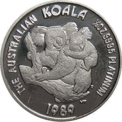 1/4oz 1989 Australia Koala Platinum Bullion Coin (Ex Set)