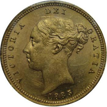 1885 Australia Melbourne Victoria Young Head Shield Reverse Gold Half Sovereign Uncirculated