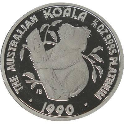 1/2oz 1990 Australia Koala Platinum Bullion Coin (Ex Set)