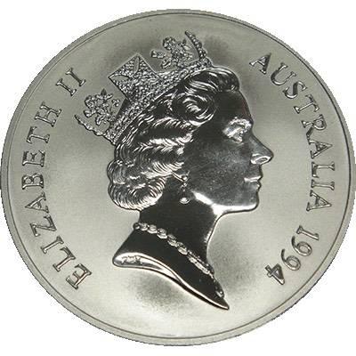 1 oz 1994 $1 Silver Kangaroo (Frosted UNC) (Ex Set)